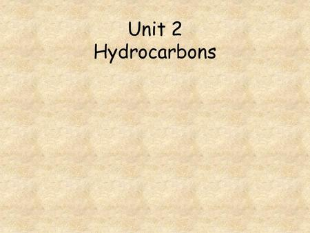 Unit 2 Hydrocarbons. Go to question 1 2 3 4 5 6 7 8 What type of reaction takes place when butene is formed from butane? When propyne reacts with chlorine,
