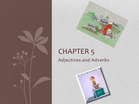 Adjectives and Adverbs CHAPTER 5. Lesson 1: What is an Adjective? An adjective is a word that modifies, or describes, a noun or a pronoun. Adjectives.