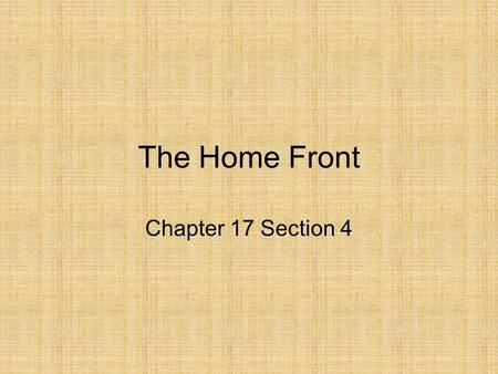 The Home Front Chapter 17 Section 4. Opportunity and Adjustment After the war, the U.S. emerged as the world's dominant economic and military power. Many.