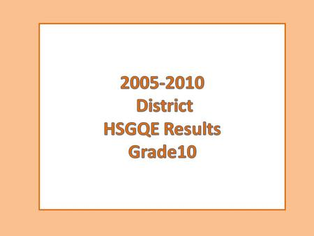 Alakanuk School HSGQE Performance Summary 10th Grade % Proficient 2005-2011 Number Tested 10 11 10 11 889889 999999 14 13 14.