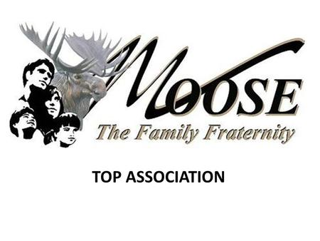 TOP ASSOCIATION. Moose International Top Association Criteria 2007 - 2008 1.Percentage of Lodges Achieving Quota 2.Increase in Number of Moose Lodges.
