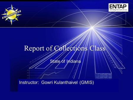 Report of Collections Class