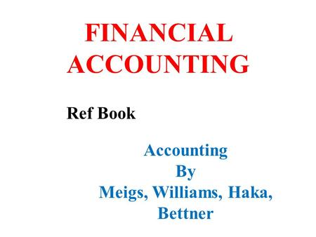 financial accounting by meigs and meigs 9th edition free  pdf