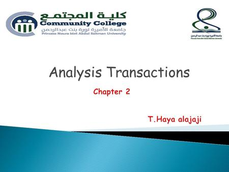 Analysis Transactions