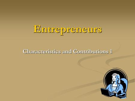 How entrepreneurs can contribute to the