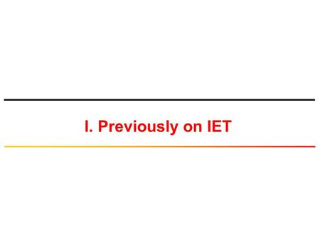 I. Previously on IET. © Tallal Elshabrawy 2 Basic Blocks of Digital Communications Source of continuous- time (i.e., analog) message signal Low pass Filter.