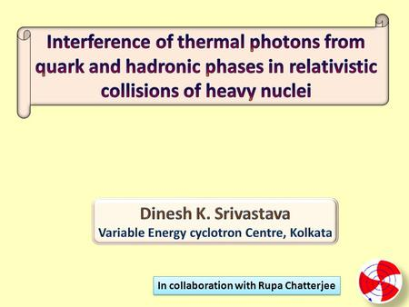 In collaboration with Rupa Chatterjee. Direct photons are penetrating probes for the bulk matter produced in nuclear collisions, as they do not interact.