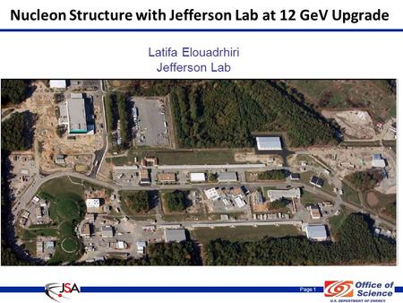 Page 1 Nucleon Structure with Jefferson Lab at 12 GeV Upgrade Latifa Elouadrhiri Jefferson Lab.