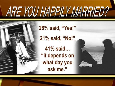 "28% said, ""Yes!"" 21% said, ""No!"" 41% said… ""It depends on what day you ask me."""