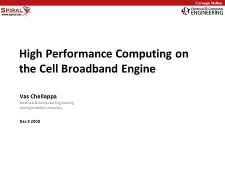 High Performance Computing on the Cell Broadband Engine