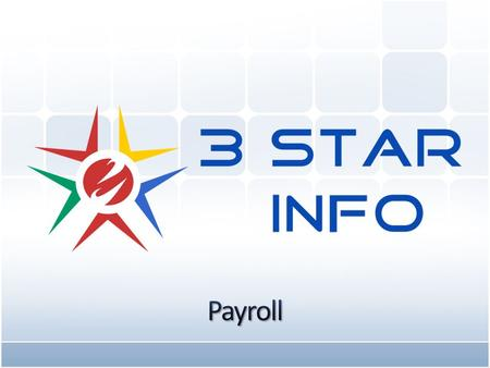 www.3stargroup.com Introduction: 3 Star Payroll Software with all requirement like CPF, Bank Giro, IR8A, Pay Slip, Leave, Auto-Inclusion Scheme for Employment.