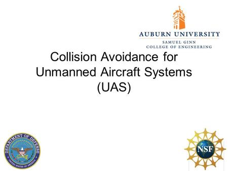 Collision Avoidance for Unmanned Aircraft Systems (UAS)