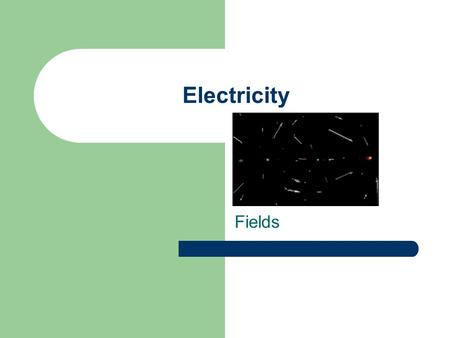 Electricity Fields. electric charges can exert forces on each other A force is that it is a push or pull. What exactly is causing the push or pull between.