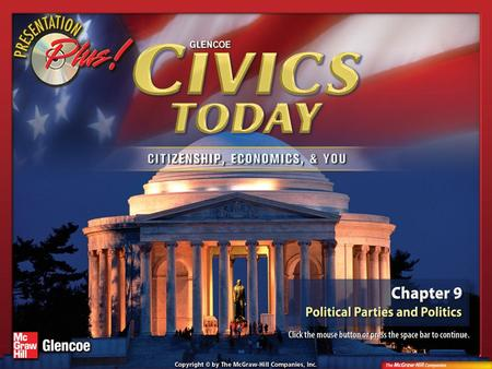 Splash Screen. Chapter Intro 1 The Constitution makes no mention of political parties, but the first ones formed during the early years of the republic.