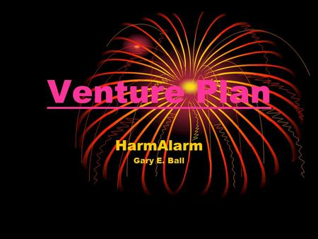 Venture Plan HarmAlarm Gary E. Ball. 21 Century: The Security Age Personnel (Automatic) Physical (Manual) Cyberspace (Automatic)