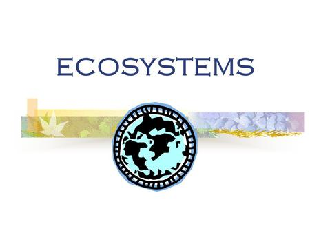 ECOSYSTEMS. ECOSYSTEMS & ECOLOGY Ecology is the study of the interactions of living organisms with one another and their physical environment.