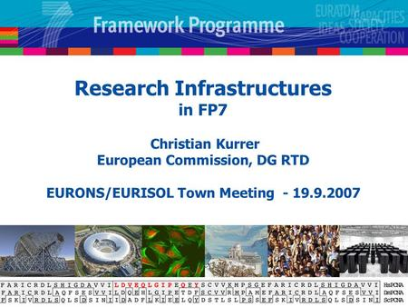 Research Infrastructures in FP7 Christian Kurrer European Commission, DG RTD EURONS/EURISOL Town Meeting - 19.9.2007.