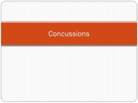 "Concussions. What is a Concussion? ""Concussions are a type of traumatic brain injury (TBI) caused by a bump, blow, or jolt to the head that disrupts the."