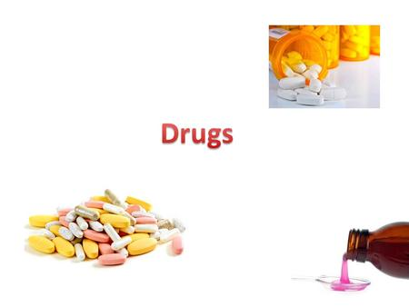 What are drugs? A drug is a chemical that you can take. It affects the way your body works. Alcohol, caffeine, aspirin and nicotine are all drugs. A drug.