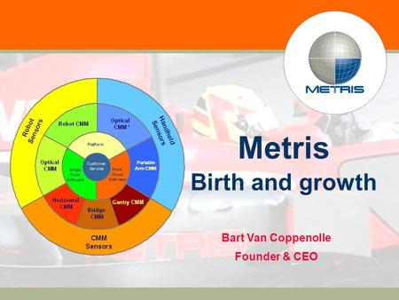 0 Metris Birth and growth Bart Van Coppenolle Founder & CEO.