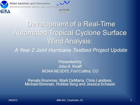 Development of a Real-Time Automated Tropical Cyclone Surface Wind Analysis: Development of a Real-Time Automated Tropical Cyclone Surface Wind Analysis: