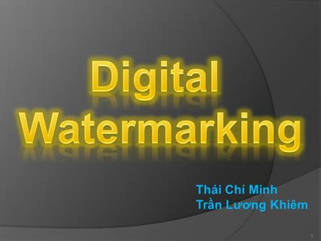 Thái Chí Minh Trần Lương Khiêm 1. Content  Introduction  History  Applications  Requirements  Techniques  Attacks 2.