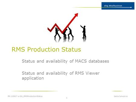 RMS Production Status Status and availability of MACS databases Status and availability of RMS Viewer application PR-110927-a-JJU_RMSProductionStatus Jasna.