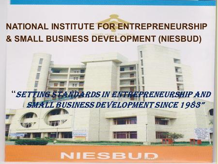 NATIONAL INSTITUTE FOR ENTREPRENEURSHIP