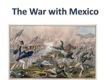 Mexican and U.S. troops battle at Palo Alto & Resaca de la Palma – U.S. wins President Polk urged Congress to declare war – they did on May 13, 1846.