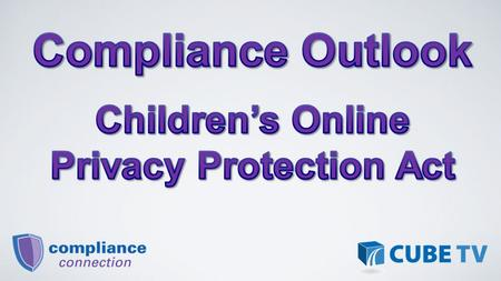 Federal Trade Commission required to issue and enforce regulations concerning children's online privacy. Initial COPPA Rule effective April 21, 2000;