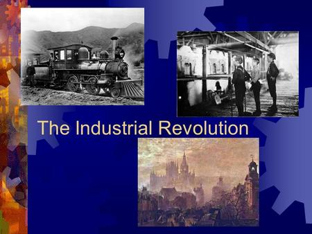 The Industrial Revolution.  The Industrial Revolution refers to the rapidly increased output of machine-made goods that began in England during the.