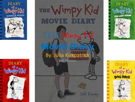 The Wimpy Kid Movie Diary By: Julia Kirkpatrick Jeff Kinney.