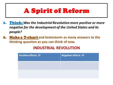 did the industrial revolution have more of a positive or negative impact on the lives of people 8 biggest pros and cons of industrial revolution the pros of the industrial revolution 1 more efficient people became more motivated and educated than.