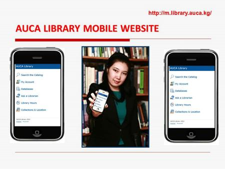 AUCA LIBRARY MOBILE WEBSITE