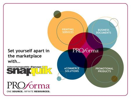 Set yourself apart in the marketplace with…. An innovative point of sale signage opportunity offered by Proforma.