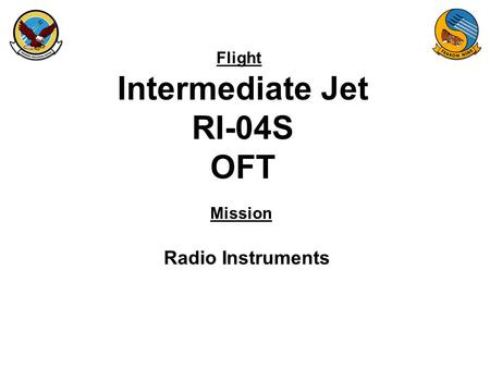 Flight Mission Intermediate Jet RI-04S OFT Radio Instruments.
