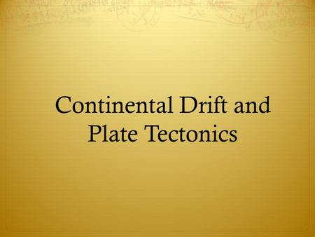 Continental Drift and Plate Tectonics. Layered Earth Cutaway.