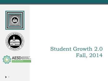 Student Growth 2.0 Fall, 2014 1.  Face-to-Face Sessions  Student Growth 2.0  TPEP/ Washington State Learning Standards Connections  District Agreement.