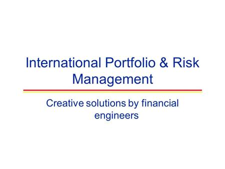 introduction to derivatives and risk management solution manual