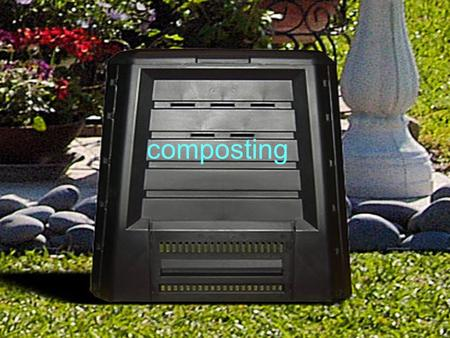 Composting. Plastic garbage can compost tumbler $75.