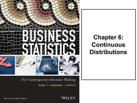 Chapter 6: Continuous Distributions. LO1Solve for probabilities in a continuous uniform distribution. LO2Solve for probabilities in a normal distribution.