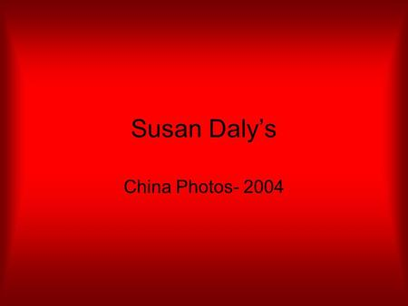 Susan Daly's China Photos- 2004. Terrain from 37,000 ft.