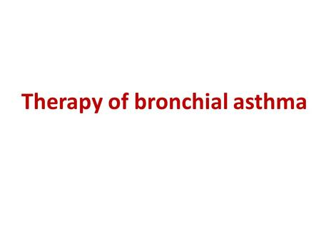 thesis on bronchial asthma Asthma is a chronic inflammatory disorder of the bronchial tubes that causes constriction and inflammation of the airways this results in narrowing of the airways.