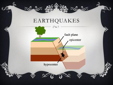 EARTHQUAKES. KWL EARTHQUAKES KnowWant to KnowLearned.