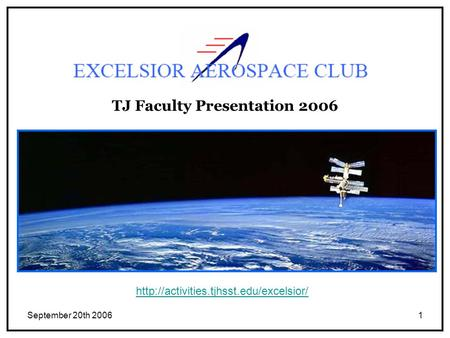 September 20th 20061 TJ Faculty Presentation 2006