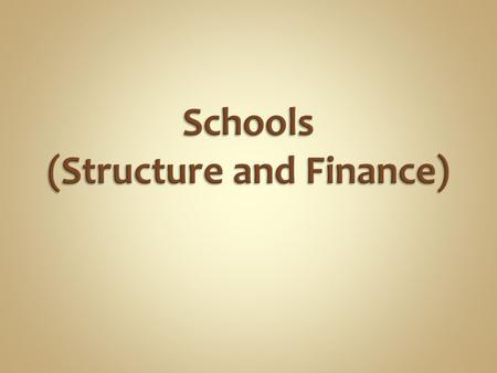Charter School Discussion School Finance Discussion School Report Card Assignment.