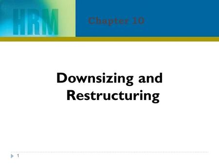 Chapter 10 1 Downsizing and Restructuring. Learning Objectives 2 After reading this chapter, you should be able to:  Appreciate the importance of defining.