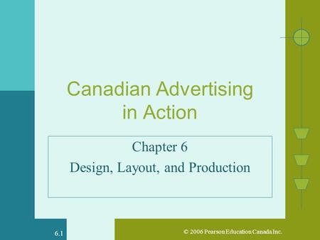 © 2006 Pearson Education Canada Inc. 6.1 Canadian Advertising in Action Chapter 6 Design, Layout, and Production.
