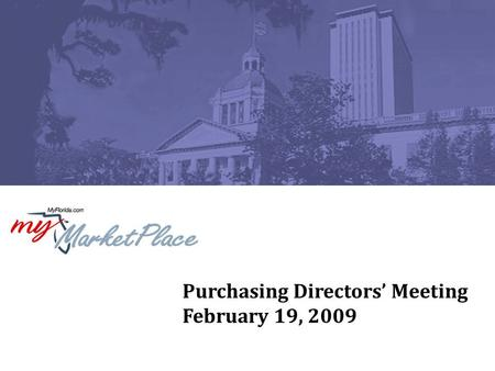 Purchasing Directors' Meeting February 19, 2009. 2 Agenda Introduction – 44A (Renegotiation Portion) –State Term Contract for Paper Gwenn Godfrey, Chief,