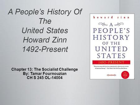 A People's History Of The United States Howard Zinn 1492-Present